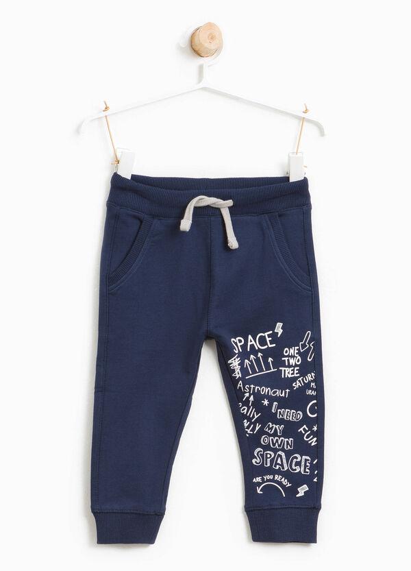 Pantalone tuta in cotone stampa lettering | OVS