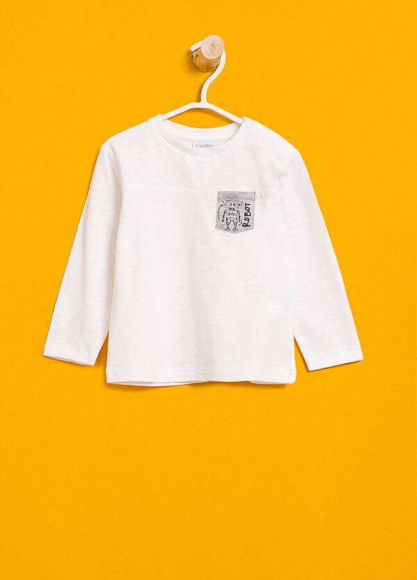 T-shirt in cotone taschino stampato | OVS