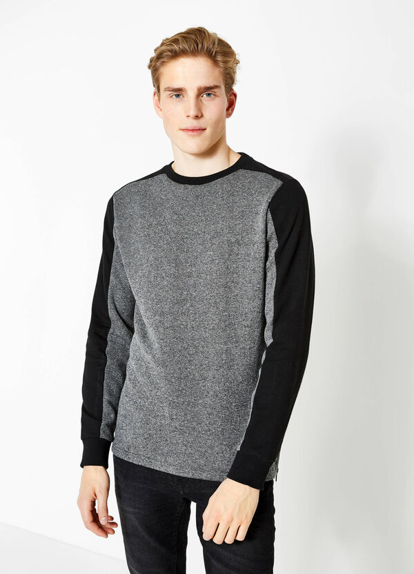Sweatshirt in cotton with contrasting colour bands | OVS