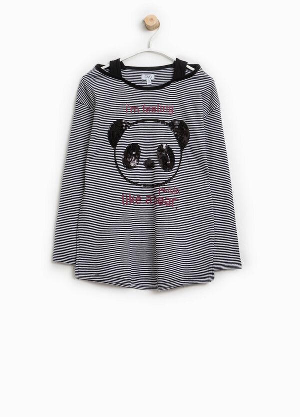 T-shirt finto doppio stampa e paillettes | OVS