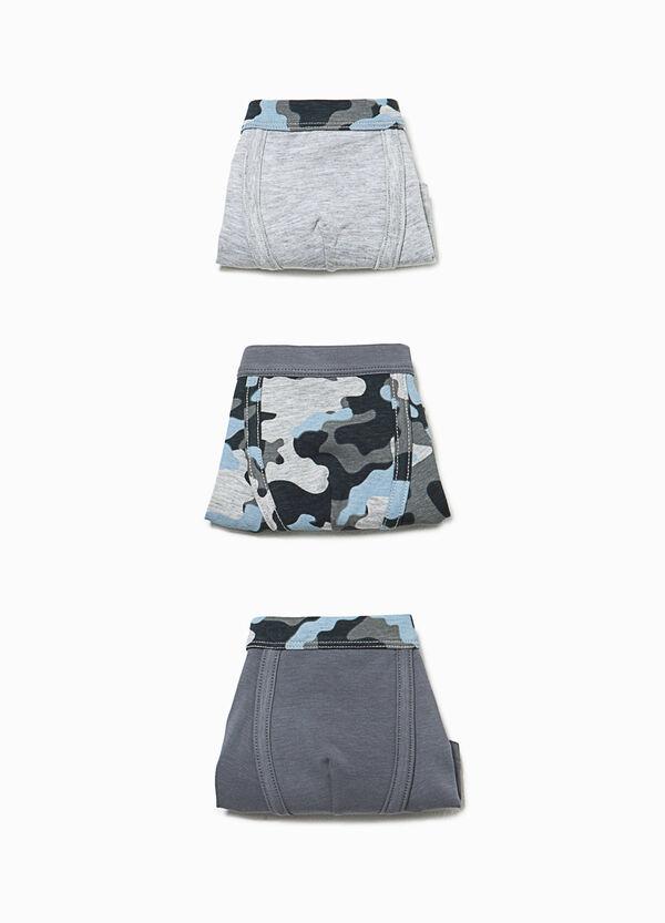 Set tre boxer unito e camouflage | OVS