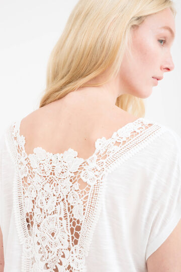 100% rayon T-shirt with lace insert