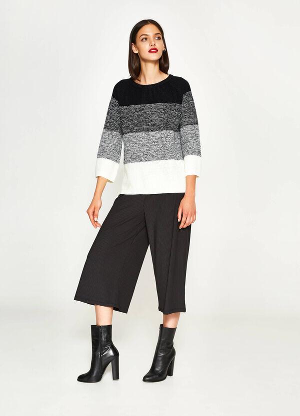 Pullover a righe lavorato tricot | OVS