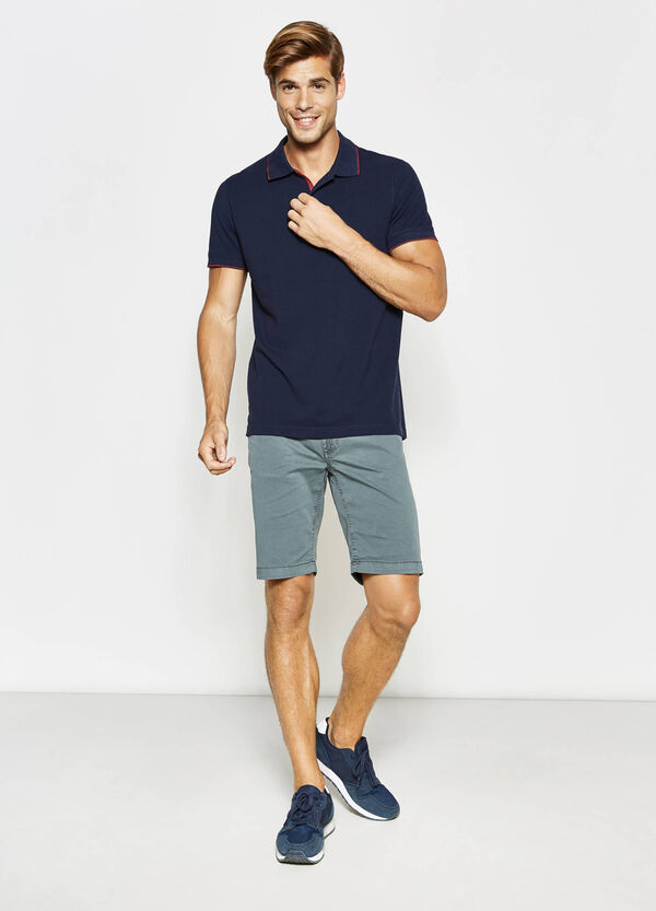 Slim-fit cotton Bermuda shorts | OVS
