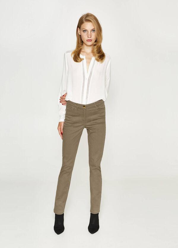 Jeans regular fit stretch tinta unita   OVS