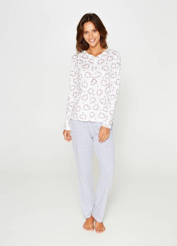 Heart pattern pyjamas in 100% cotton | OVS