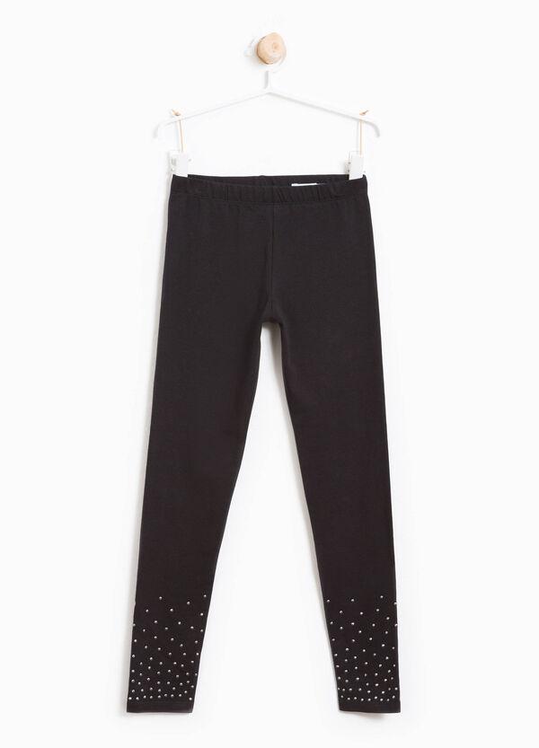 Leggings in cotone stretch con borchie | OVS