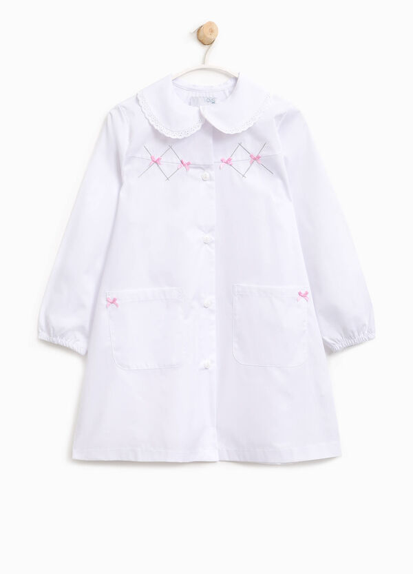 Embroidered smock with bows | OVS