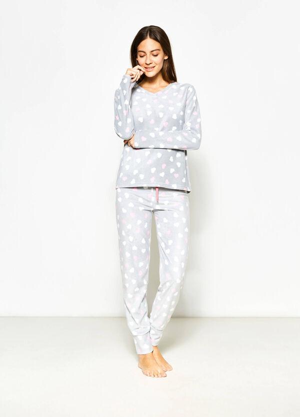 Maglia pigiama in pile stampata | OVS