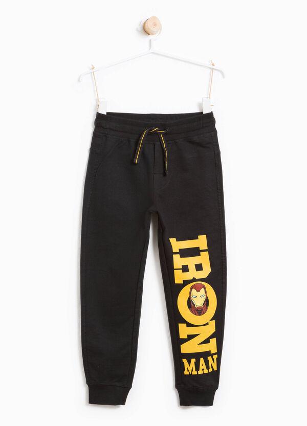 Pantaloni tuta in cotone stampa Iron Man | OVS