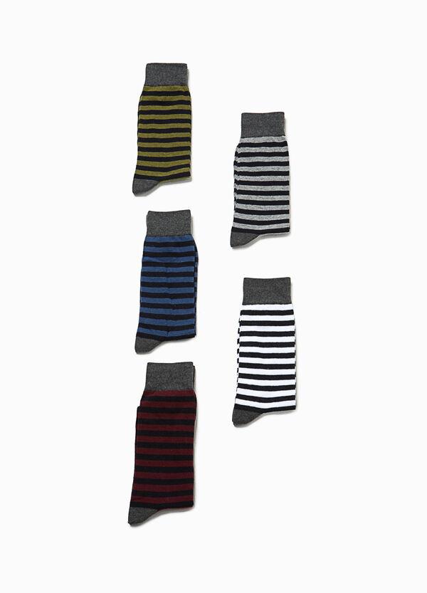 Set cinque paia di calze corte a righe | OVS