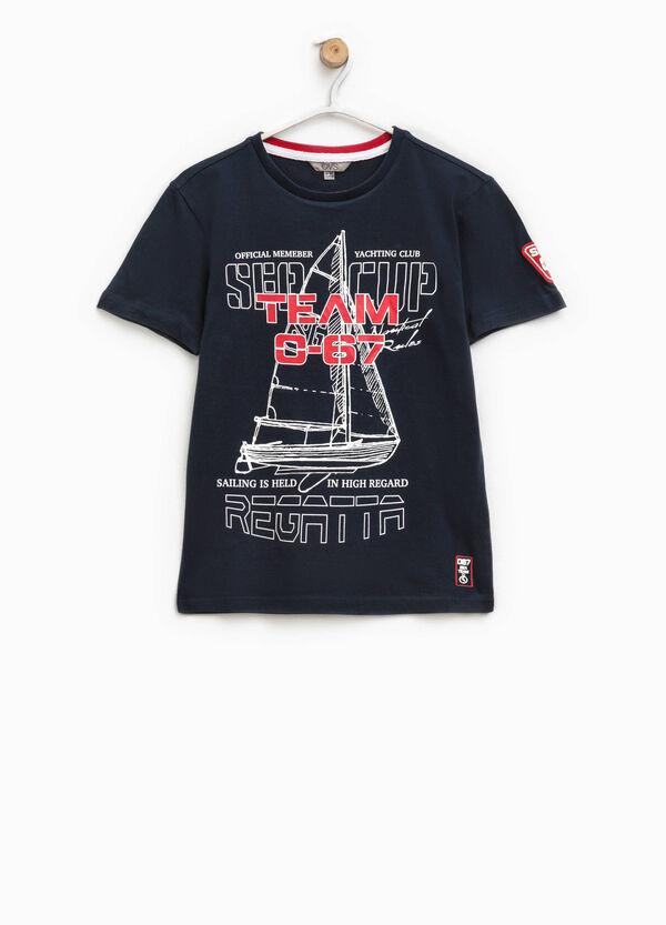 T-shirt girocollo con stampa   OVS