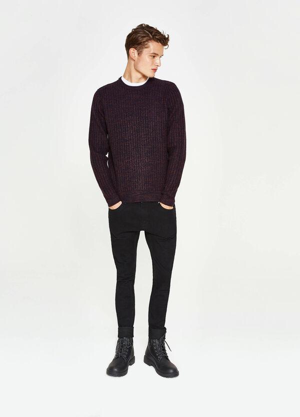Pullover girocollo lavorato tricot   OVS