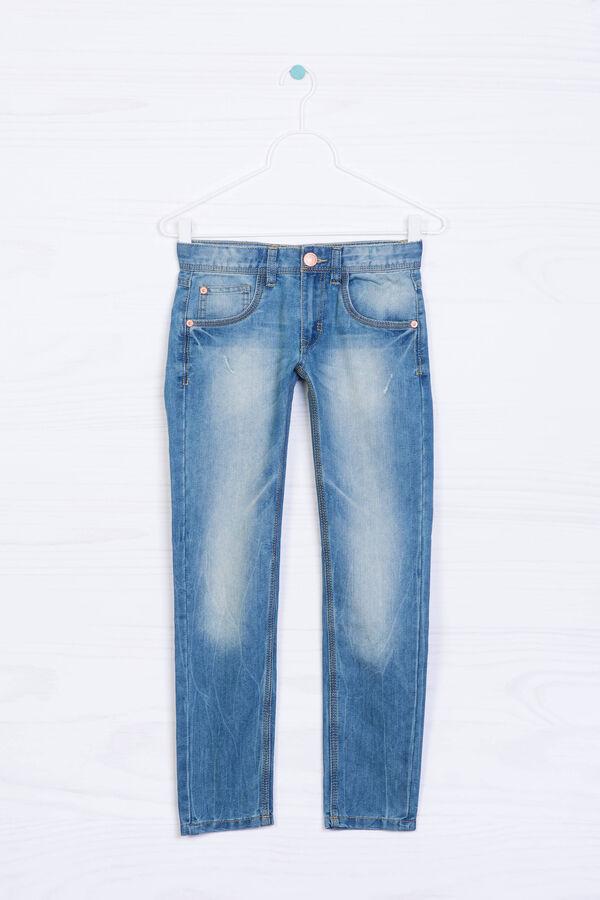Jeans cinque tasche effetto delavé   OVS