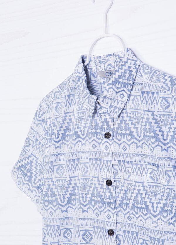 Camicia in cotone stampa taschino   OVS