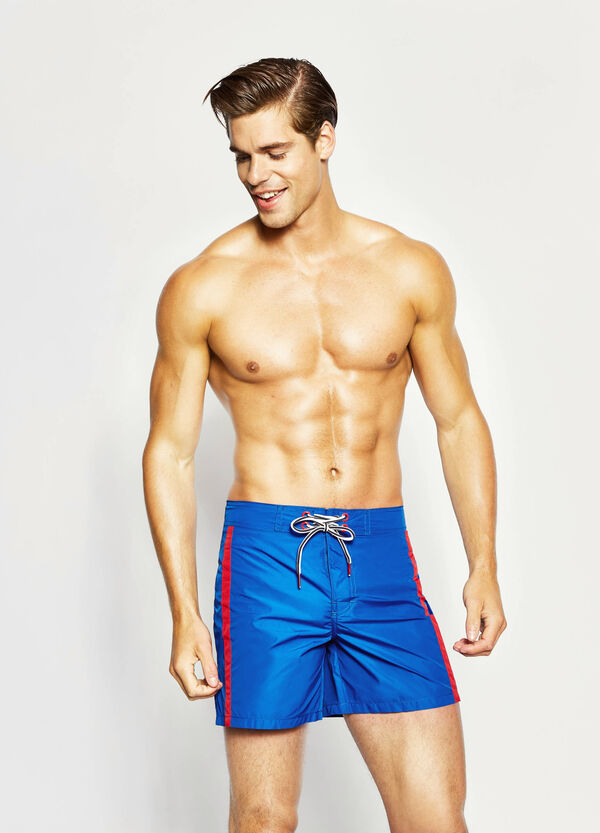 Beach shorts with contrasting bands | OVS