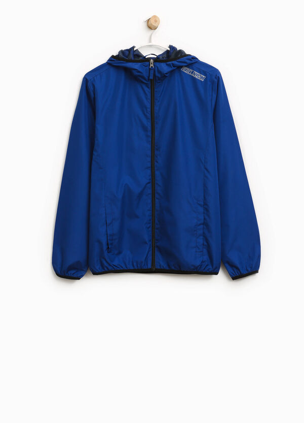 Solid colour jacket with print | OVS