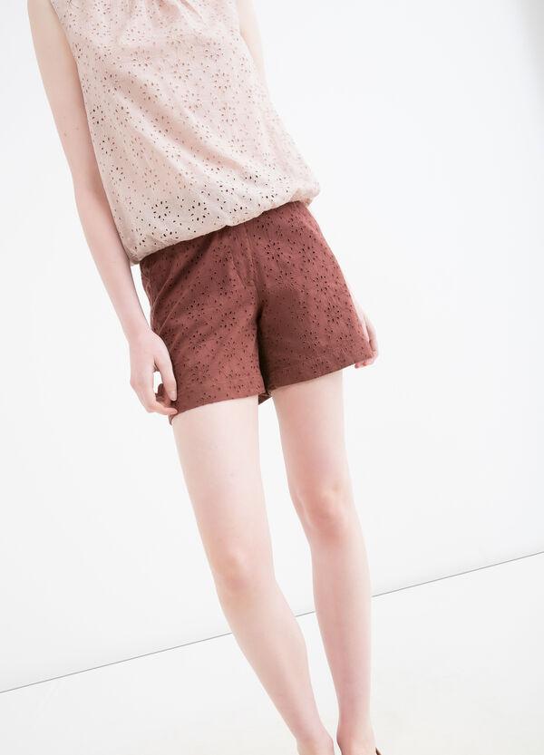 Shorts puro cotone traforati | OVS