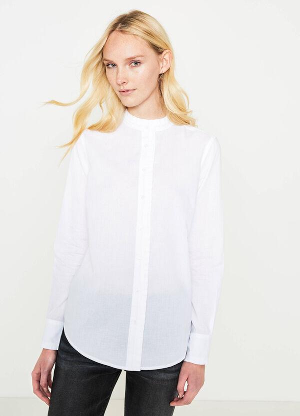 Camicia puro cotone con volants | OVS