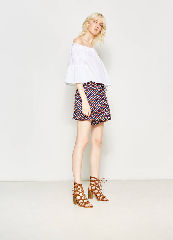 Shorts in viscosa stampa all-over | OVS