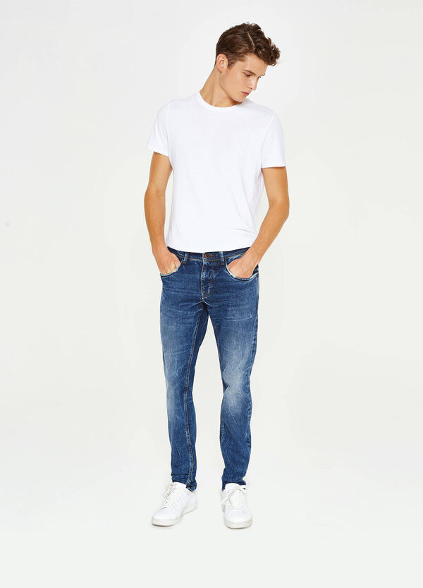 Jeans slim fit stretch used baffature | OVS