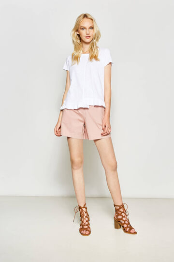 100% cotton T-shirt with flounce