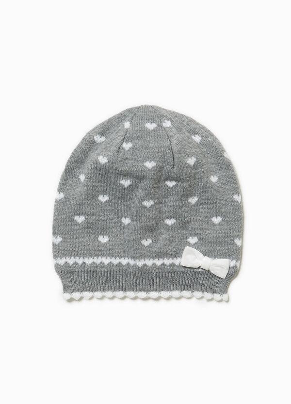Heart-pattern beanie cap | OVS