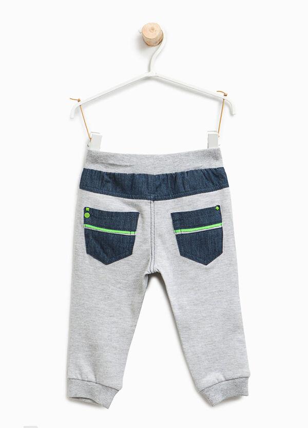Pantaloni tuta stampa finto jeans | OVS