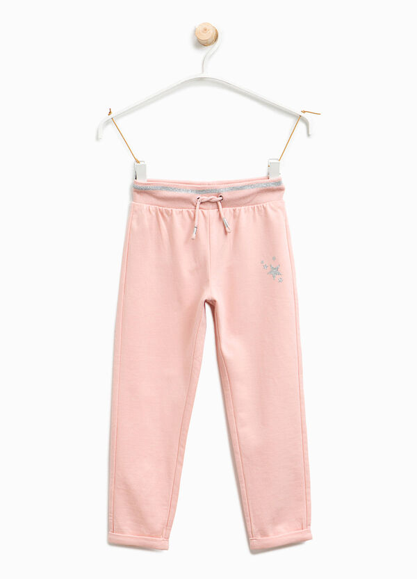 Joggers with glitter print | OVS