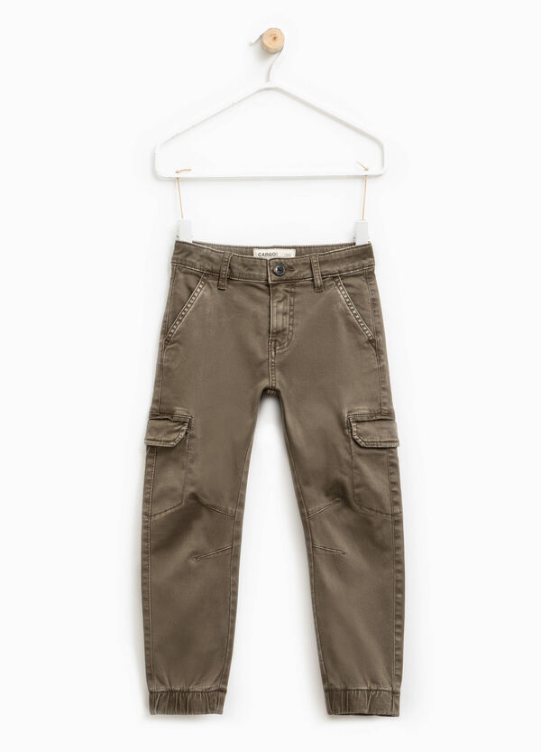 Pantaloni chino cargo in cotone stretch | OVS