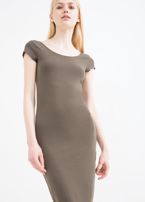 Solid colour stretch pencil dress | OVS