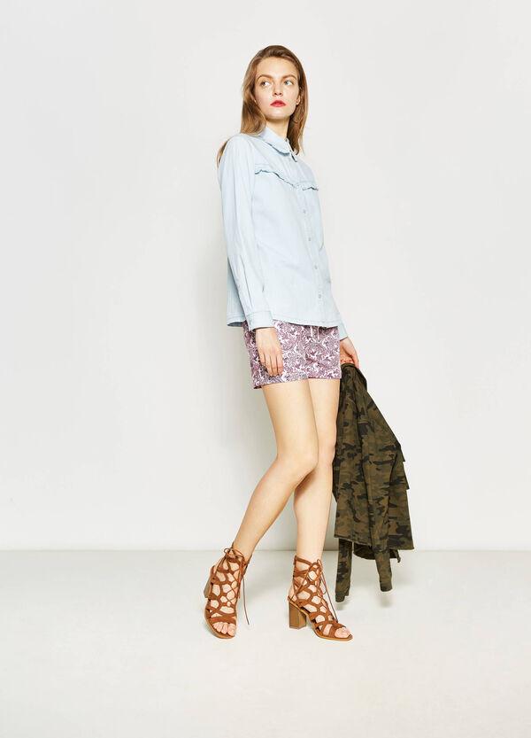 Shorts in cotone con stampa all-over | OVS