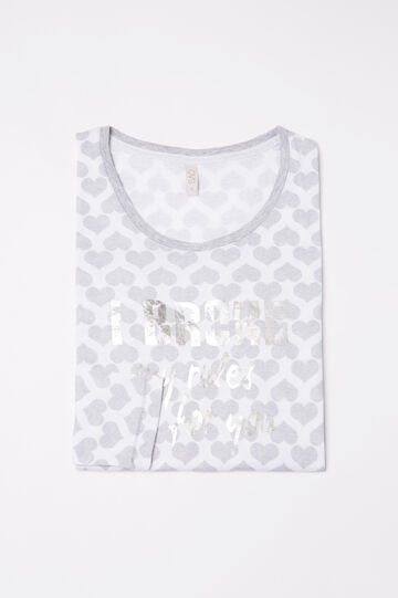Pyjama top in 100% cotton with hearts