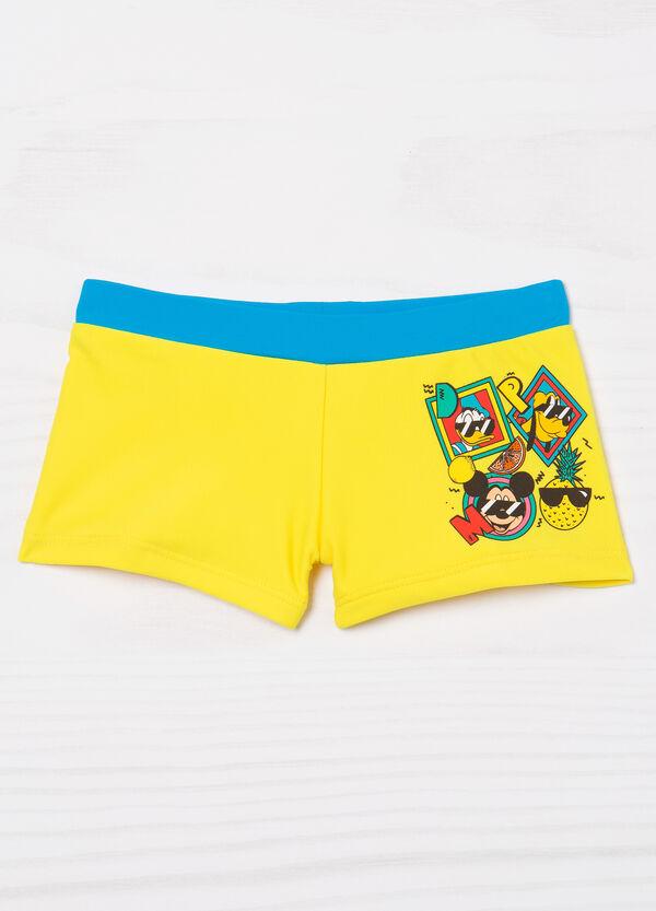 Stretch printed swim boxer shorts.   OVS