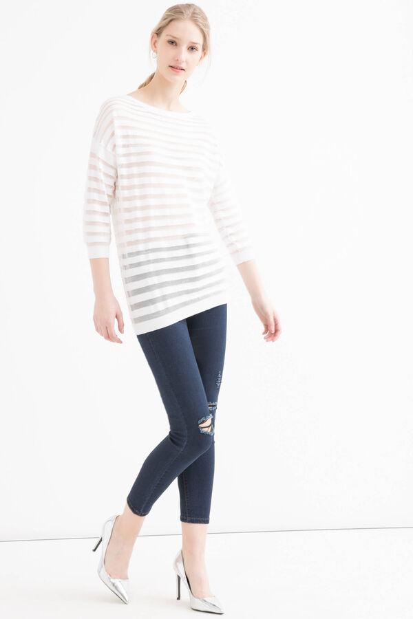Striped cotton blend pullover | OVS