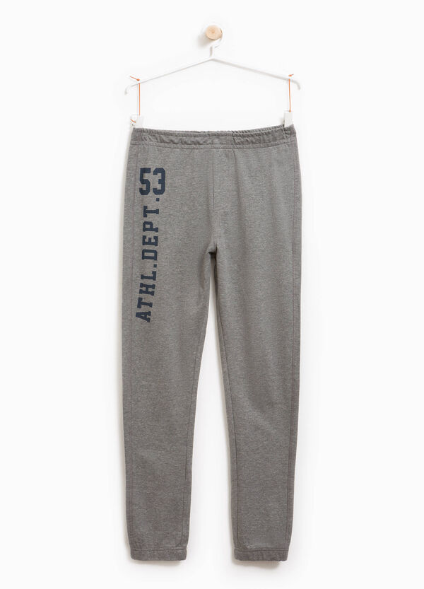 Mélange joggers with printed lettering | OVS