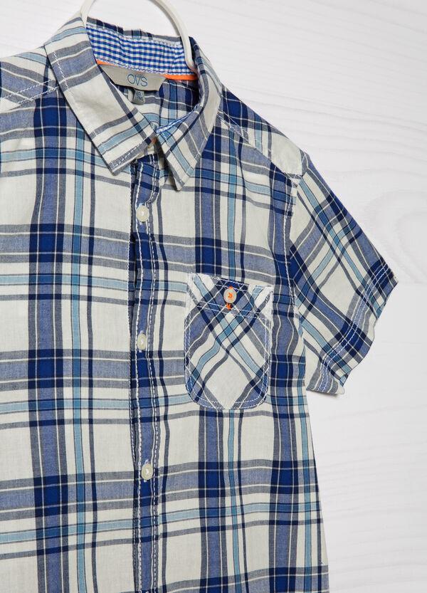Camicia puro cotone a quadri   OVS