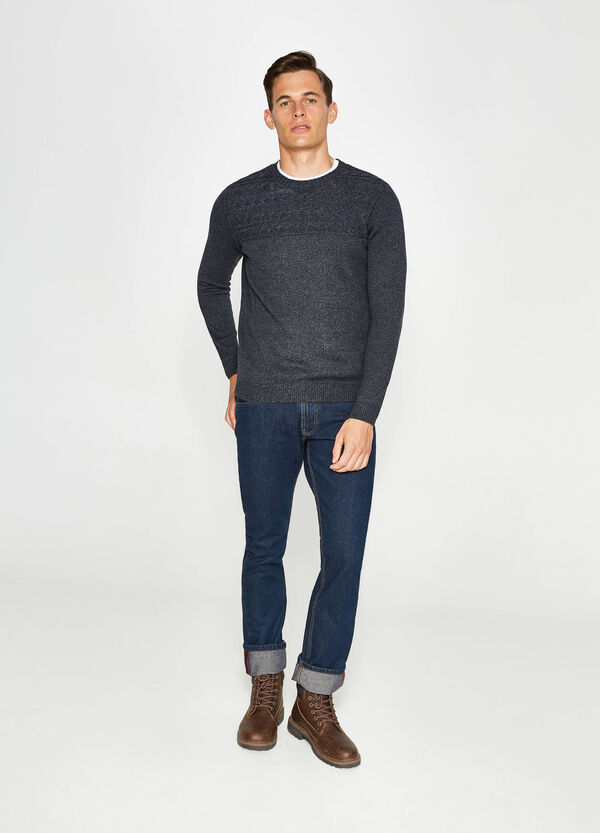 Pullover in cotone tricot mélange | OVS