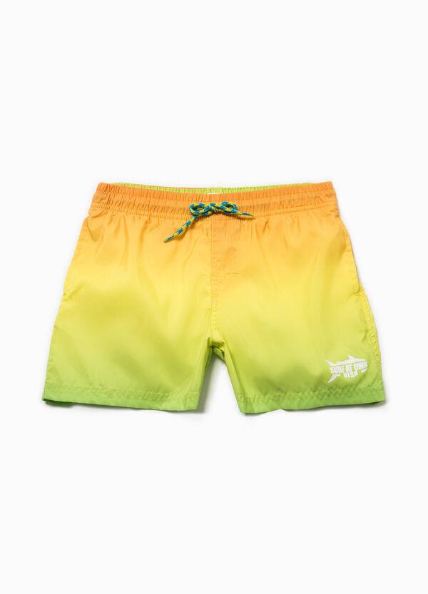 Degradé beach shorts with print | OVS