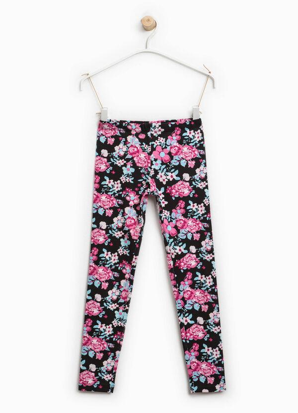 Leggings in cotone stretch floreale | OVS