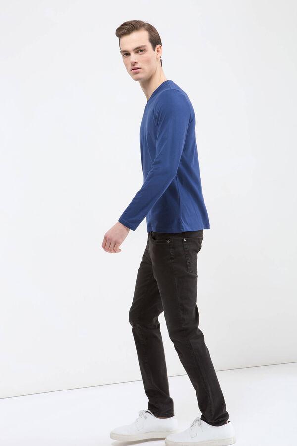 T-shirt puro cotone scollo a V   OVS