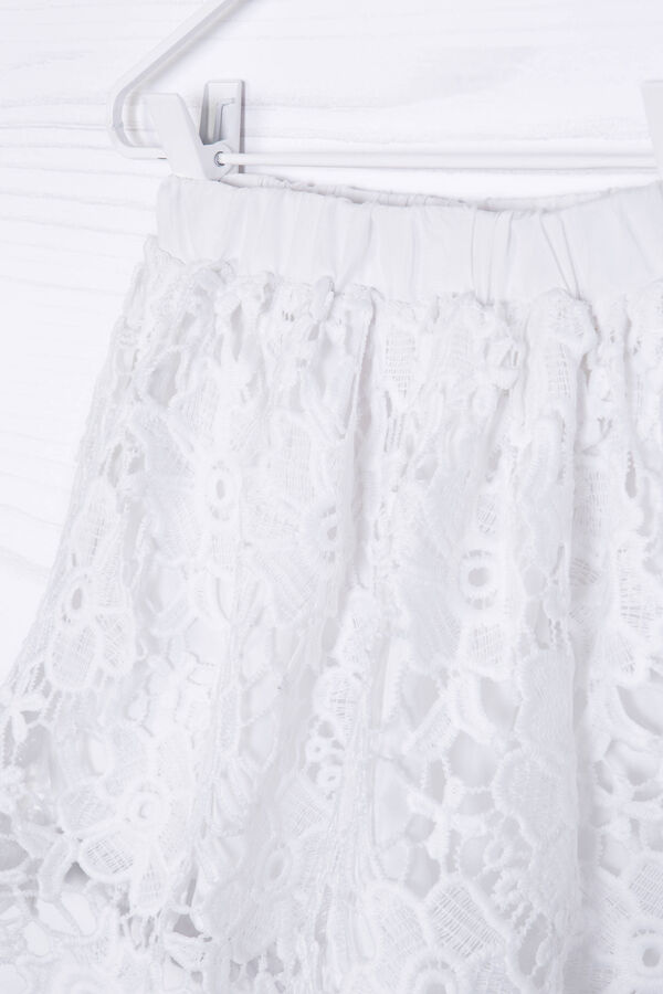 Solid colour embroidered skirt | OVS