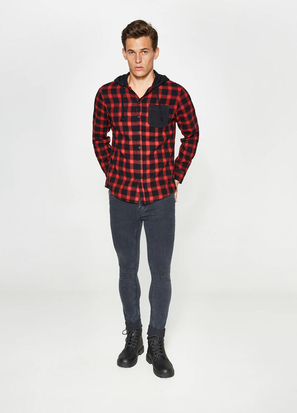 Casual shirt with check hood | OVS
