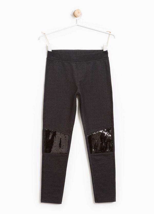 Leggings in cotone stretch paillettes | OVS