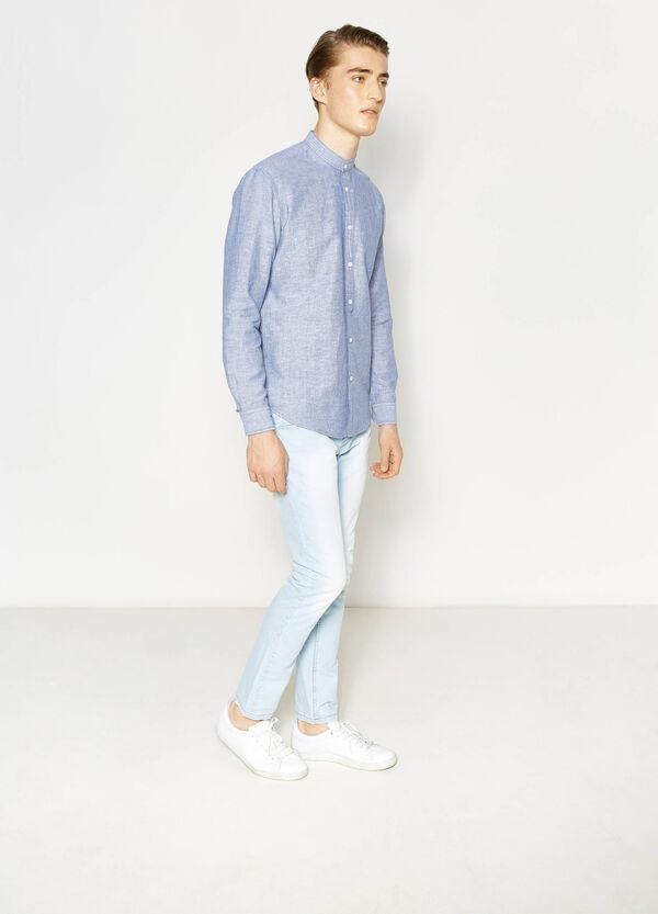 Camicia casual in lino rigata | OVS