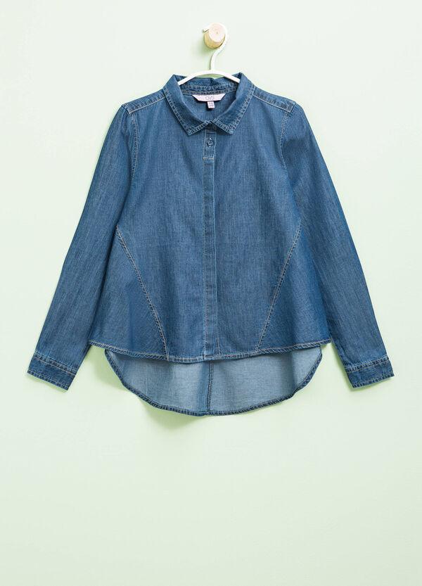 Denim shirt with asymmetric hem | OVS