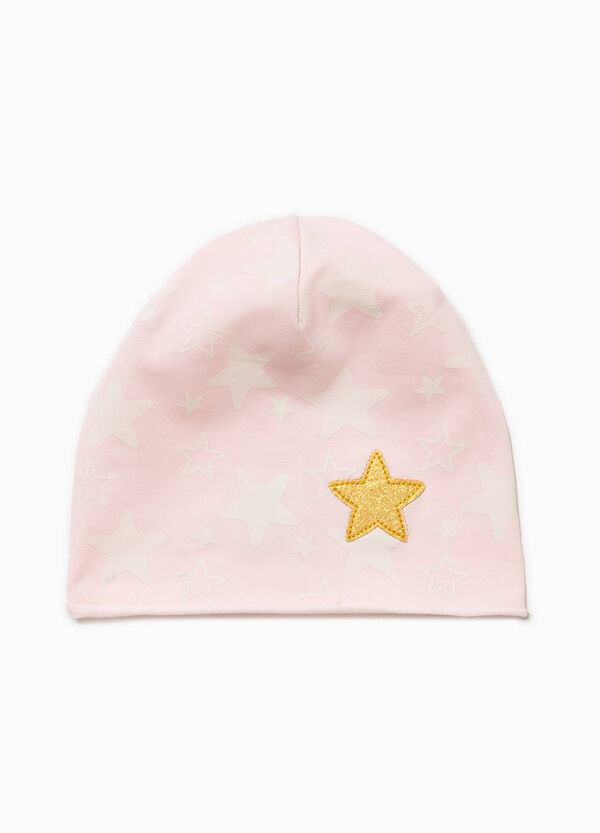 Star patterned cotton beanie cap | OVS