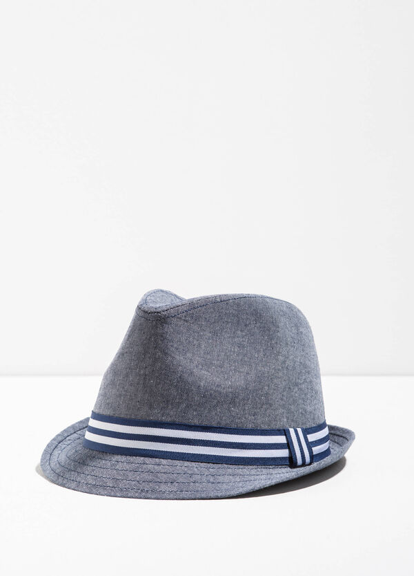 Cappello a falda larga fascia rigata | OVS