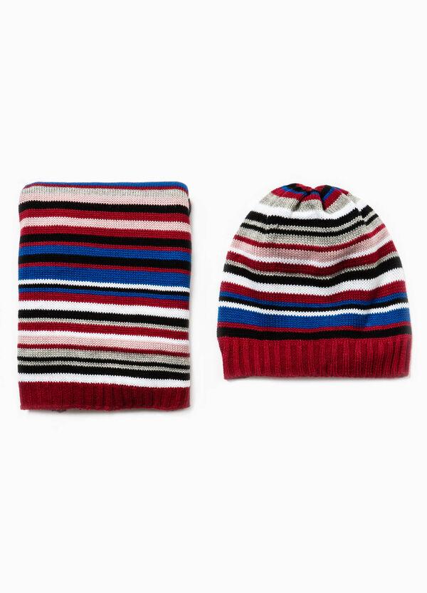 Completo cappello e sciarpa a righe | OVS