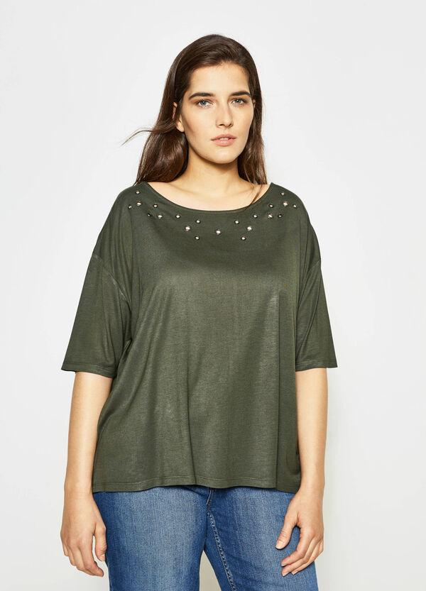 Curvy T-shirt with asymmetric hem | OVS